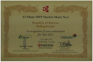 A3 Market Sare 2012