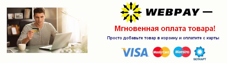 На сайте подключена оплата пластиковой карточкой через WebPay